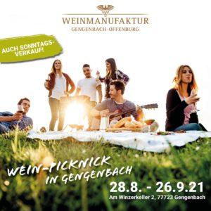 Wein-Picknick Weinmanufaktur Gengenbach-Offenburg @ Weinmanufaktur Gengenbach-Offenburg